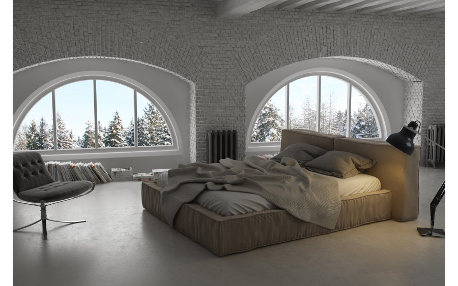 Luxury I łóżko tapicerowane