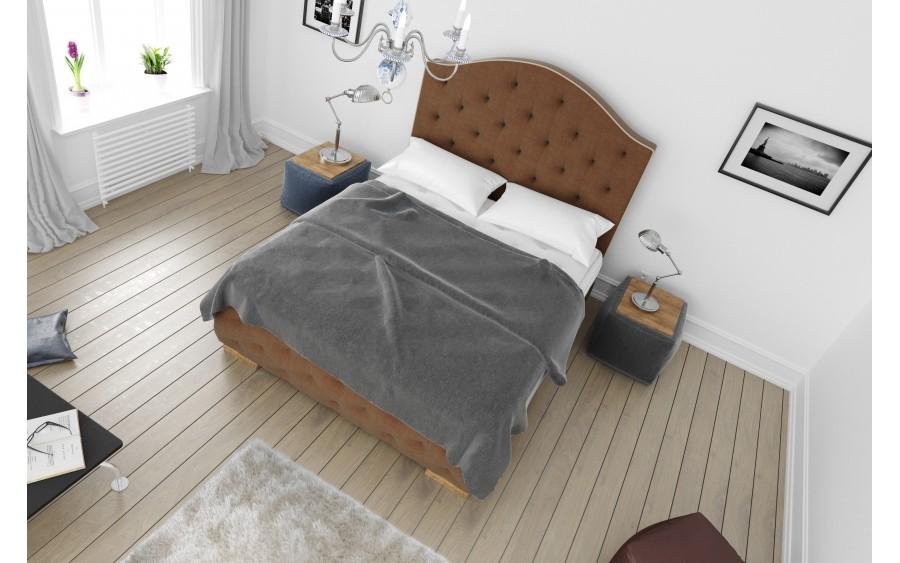 Luxury V łóżko tapicerowane