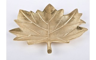 Patera liść Gold