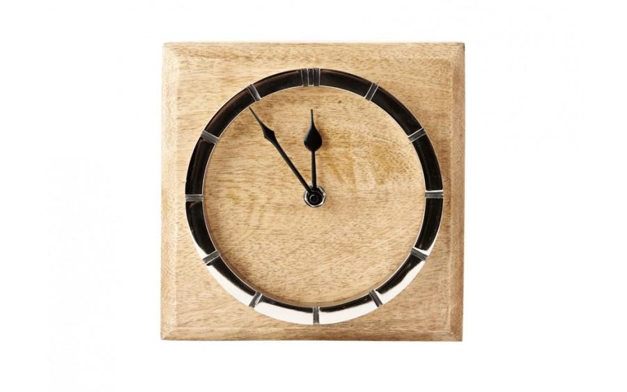 Zegar 18 x18 cm drewniany industrialny