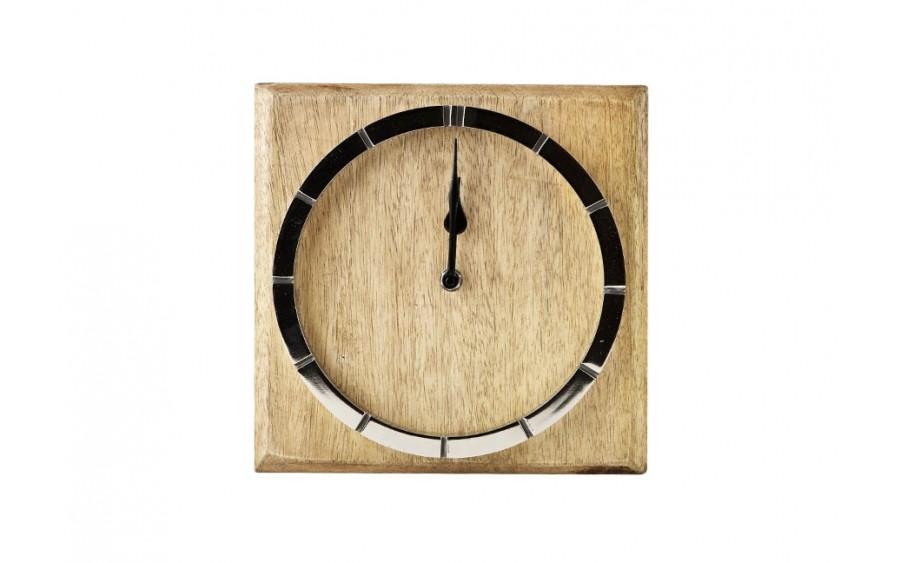 Zegar 23 x 23 cm drewniany
