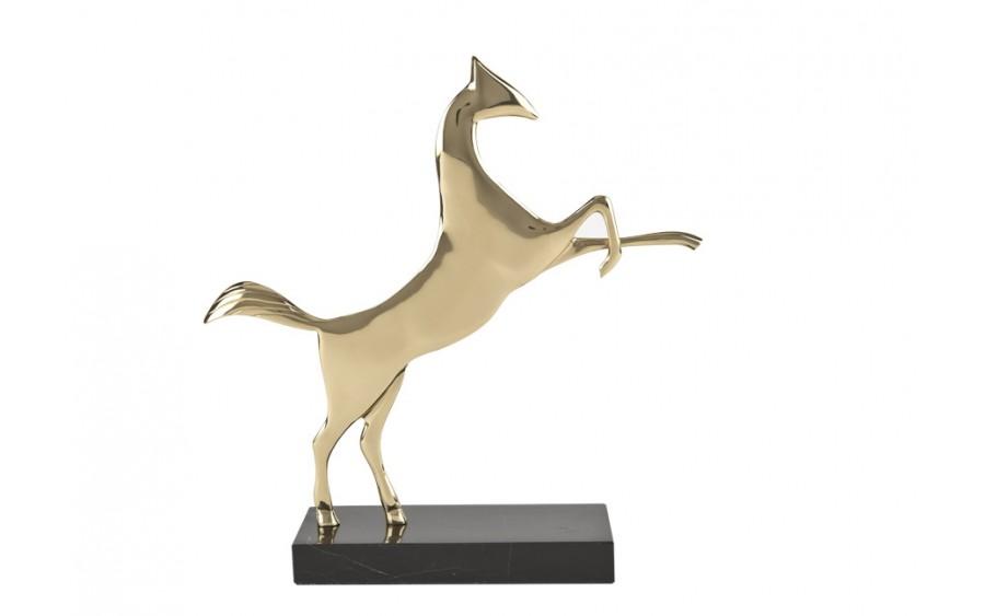 Ozdoba z mosiądzu Koń
