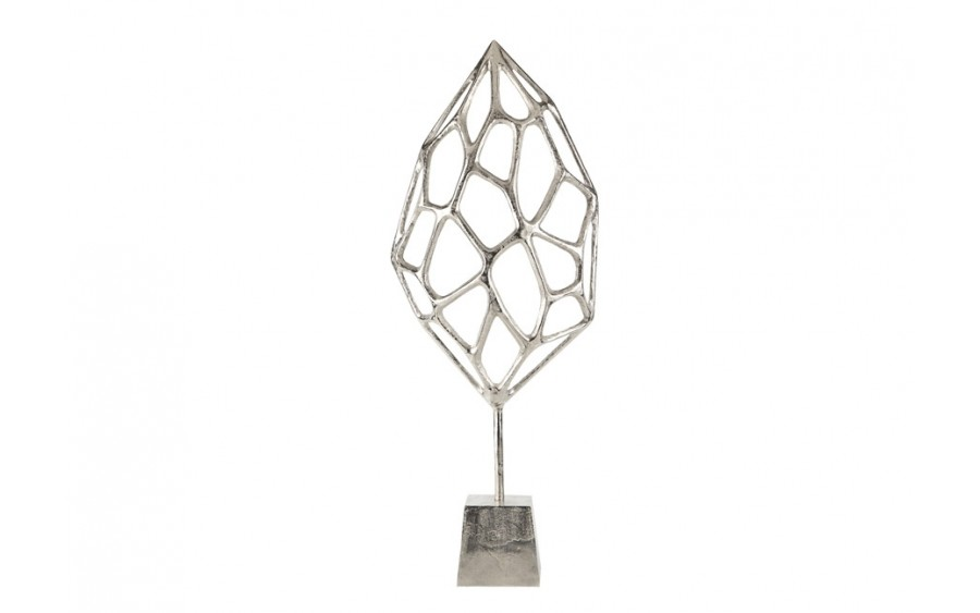 Rzeźba aluminiowa Liść