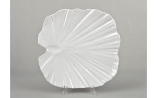 Taca liść palmowy 35 cm - biała
