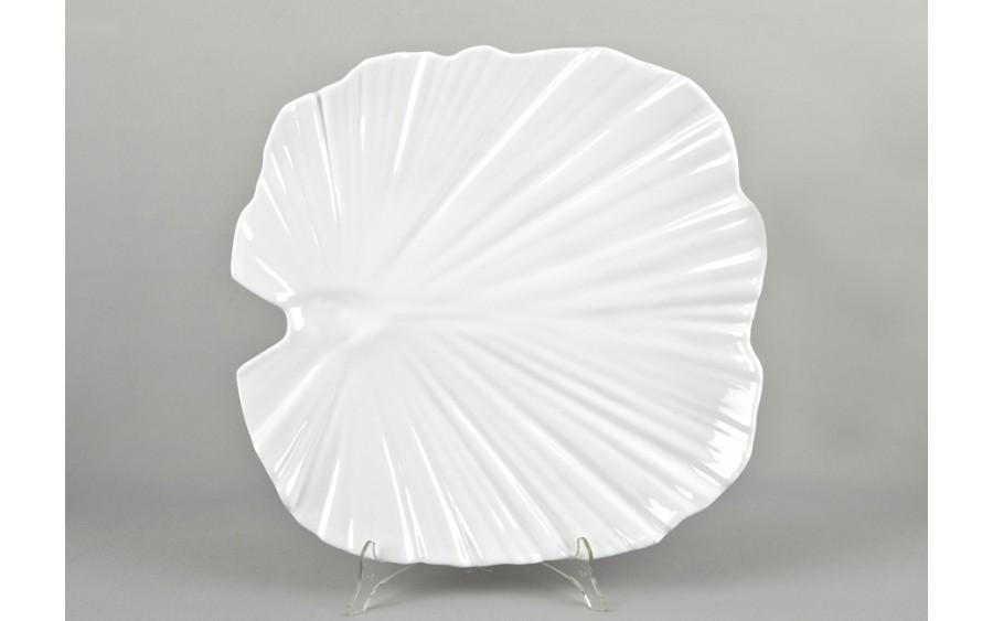 Taca liść palmowy 42 cm - biała