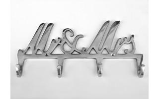 Wieszak MR&MRS (4 haki)