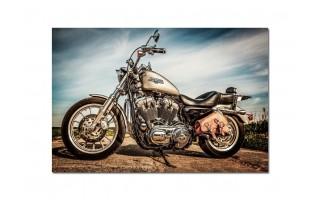 Obraz szklany 120x80 Harley Davidson