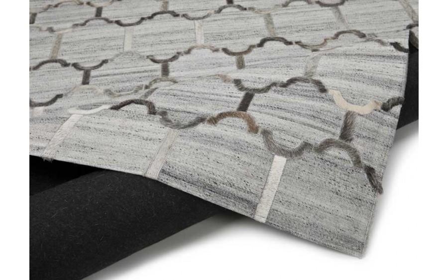 Dywan skóra-wełna 120x180 Denver Grey