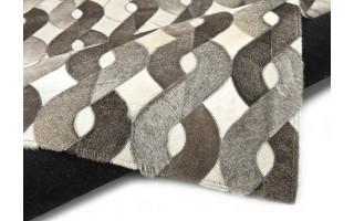 Dywan skóra 160x230 LM-194A White/Grey