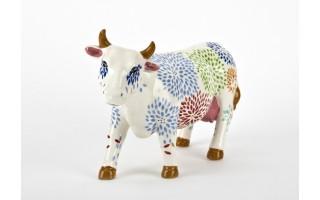 Ozdoba ceramiczna Krowa w dmuchawce