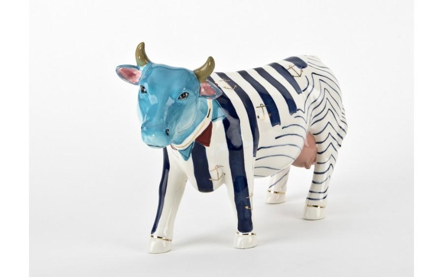 Ozdoba ceramiczna Krowa w pasy