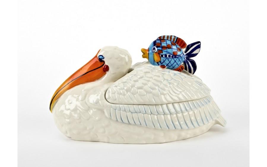 Pojemnik ceramiczny Ptak Pelikan