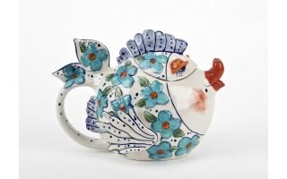 Ceramiczny imbryk Ryba kwiaty