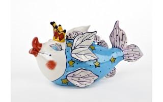 Ceramiczny imbryk Ryba gwiazdki