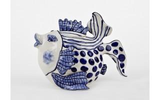 Ceramiczny imbryk Ryba kropki