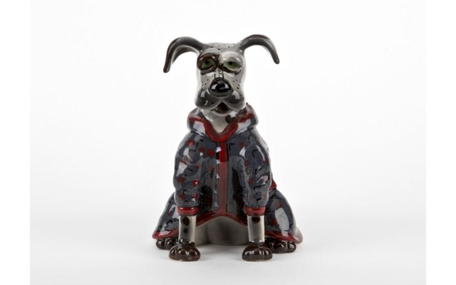 Ceramiczny imbryk Pies w szlafroku