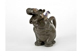 Ceramiczny imbryk Hipopotam