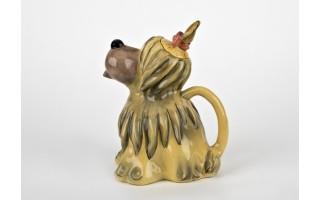 Ceramiczny imbryk Pies zielono-żółty