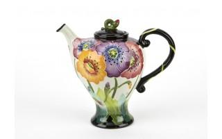 Ceramiczny imbryk Kwiaty
