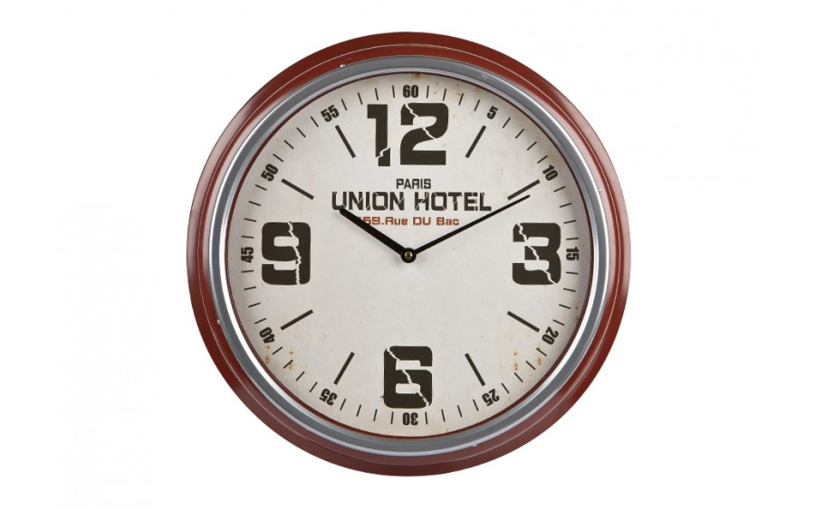 Zegar ścienny okrągły 47cm brąz Union Hotel