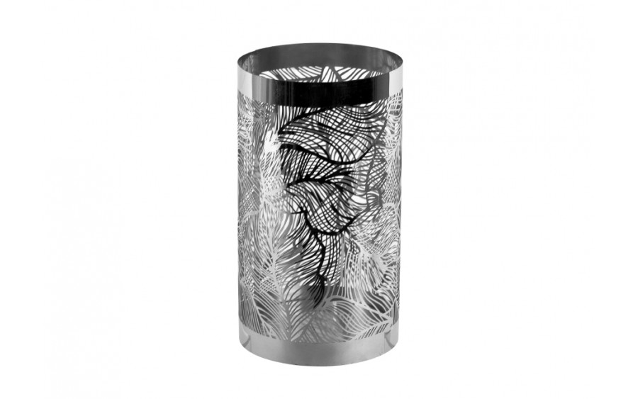 Lampion Eden Metal Base Chrom Leaf