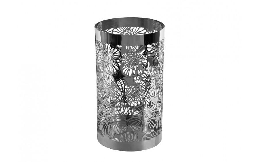Lampion Eden Metal Base Chrom Flower