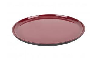 Talerz płytki 24cm Asia czarno-czerwony