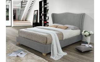 Łóżko tapicerowane Carmen (szary)