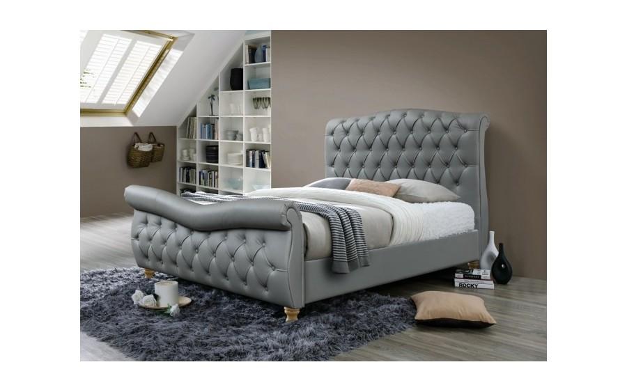 Łóżko tapicerowane Jasmine (ekoskóra)