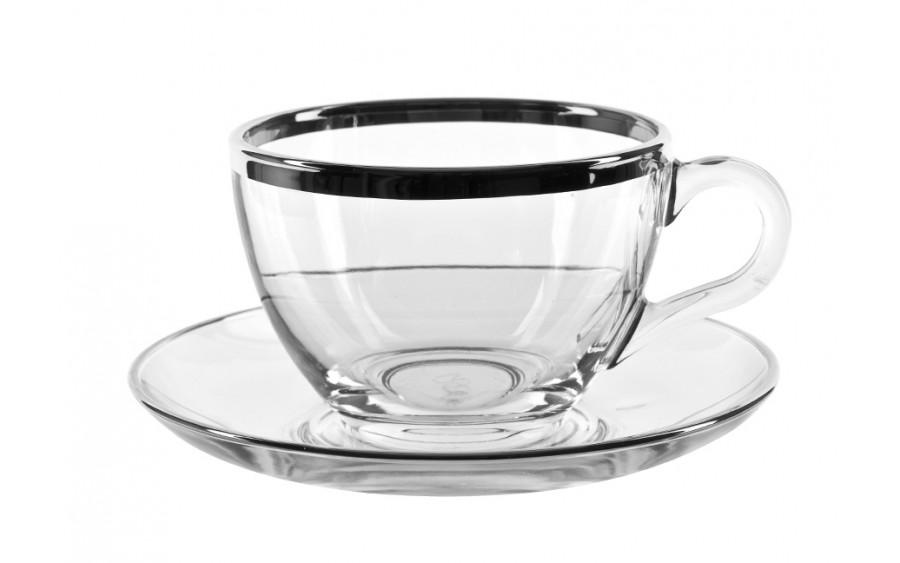 6x Filiżanka cappuccino+spodek Platinium Line
