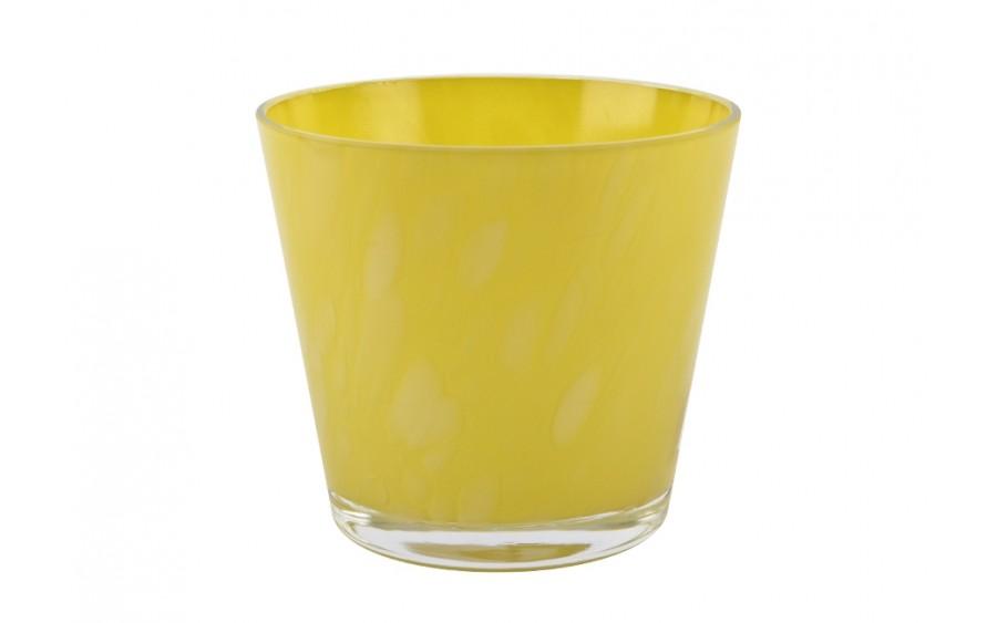 Wazon 13cm żółty