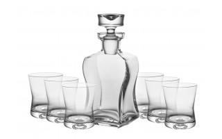Karafka + 6 szklanek do whisky 290ml