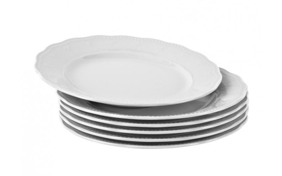 Komplet 6 talerzy deserowych 19cm Gloria Biała