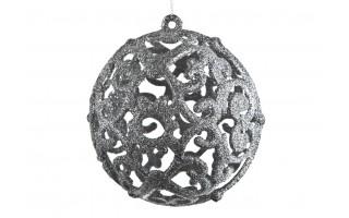 Bombka 12cm srebrna