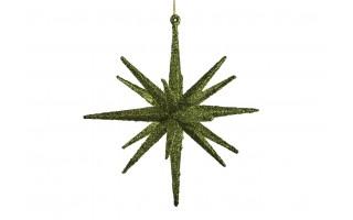 Bombka gwiazda 15cm zielona