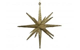 Bombka gwiazda 15cm złota