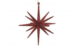 Bombka gwiazda 15cm czerwona