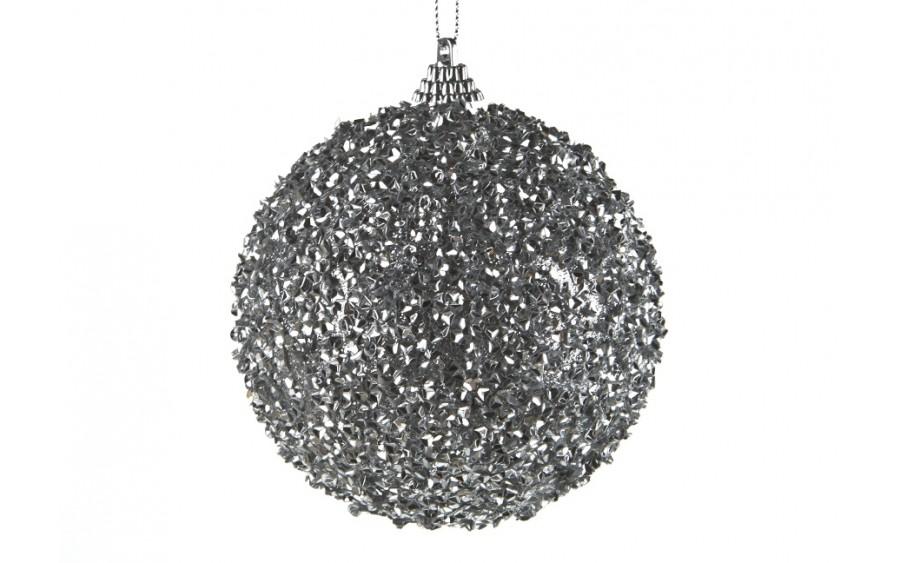 Bombka 10cm (2 szt.) srebrna