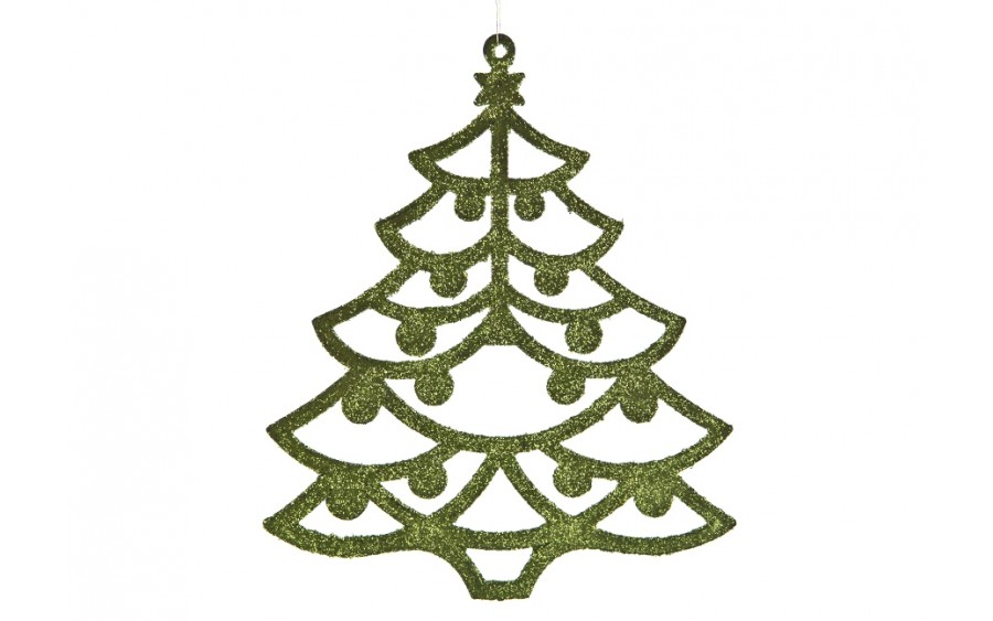 12x Ozdoba świąteczna choinka zielona