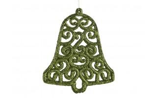 12x Ozdoba świąteczna zielona dzwonek