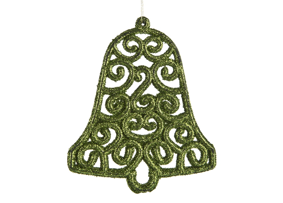 12x Ozdoba ¶wi±teczna zielona dzwonek