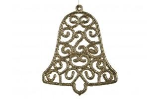 12x Ozdoba świąteczna złoty dzwonek