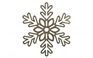 Ozdoba świąteczna Śnieżynka złota