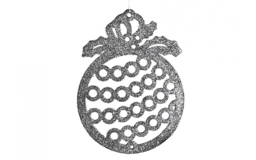 12x Ozdoba świąteczna bombka srebrna