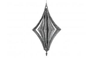 4x Bombka srebrna bączek