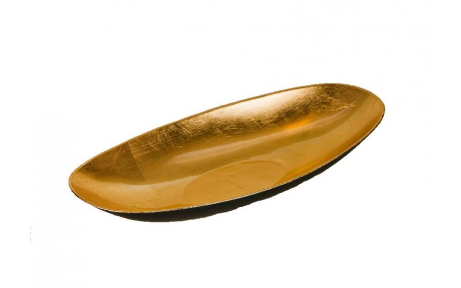 Salaterka plastikowa 30cm - złota
