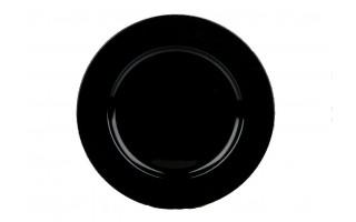 Talerz plastikowy ozdobny 33cm - czarny
