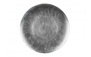 Talerz plastikowy ozdobny 33cm - silver