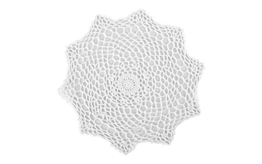 Serweta na stół 30cm ażurowa biała