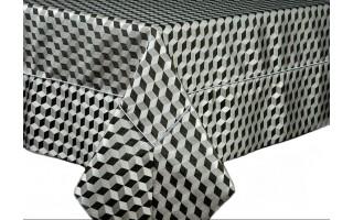 Obrus 150x230cm Quader Popiel